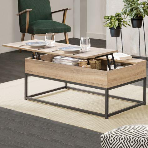 Table Basse Plateau Relevable Detroit Design Industriel Table