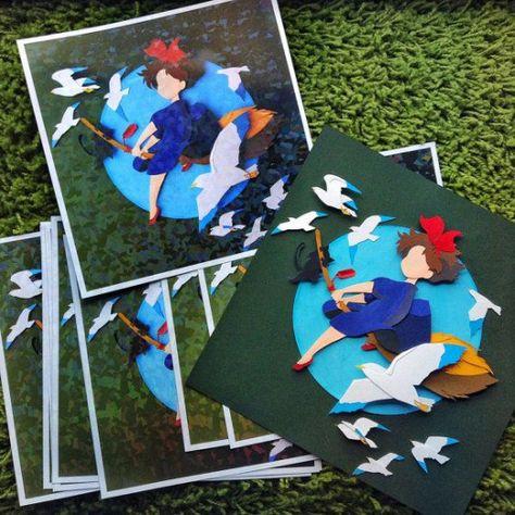 Prints Studio Ghibli Kiki's Delivery Service by sandylauxl