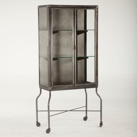 Steampunk Industrial Steel And Glass Medical Cabinet Vintage Industrial Furniture Industrial Design Furniture Medical Cabinet