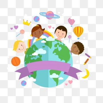 Kids H5 Background In 2021 World Peace Day Cartoon Clip Art Cute Illustration