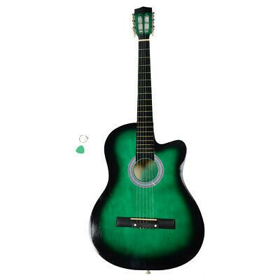 38 Inch Cutaway Acoustic Guitars With Guitar Plectrum Guitar Acoustic Guitar Music Acoustic Guitar
