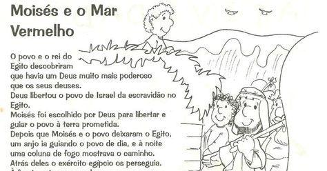 Licao Biblica Infantil Moises E O Mar Vermelho Mar Vermelho Dia