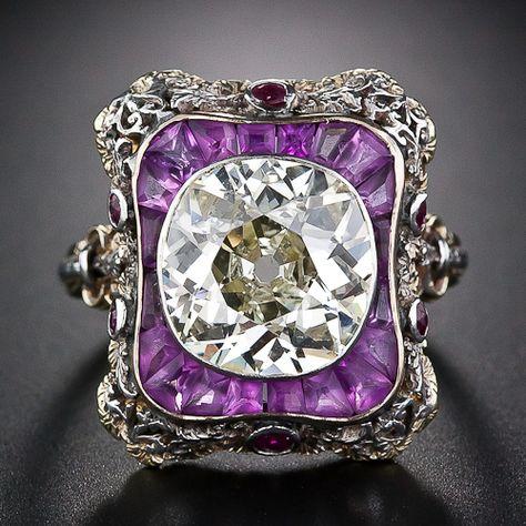 Extraordinary 4.23 Carat Antique Diamond Ring - 10-1-4394 - Lang Antiques