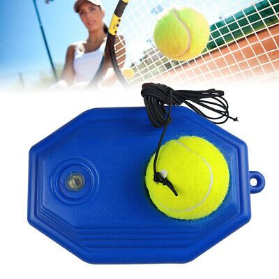 Advertisement Ebay Tennis Training Tool Set Single Self Study Rebound Ball Tennis Trainer Machine