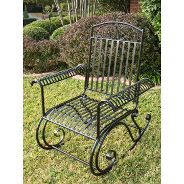 International Caravan Tropico Iron Metal Rocker Iron Patio