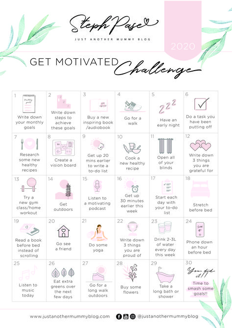 5 Ways to Get Motivated! FREE 30 Day Motivation Challenge! - Just Another Mummy Blog