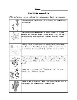 2md5 Measurement Word Problems Worksheets With Images