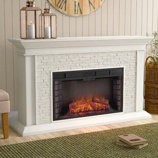 Kitsco Boyer Electric Fireplace White Electric Fireplace