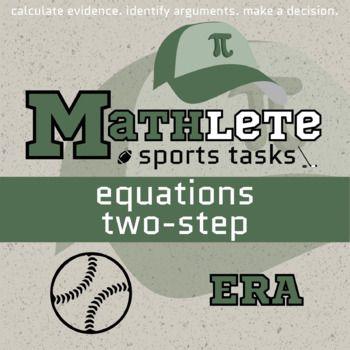 Mathlete Equations Two Step Baseball Earned Run Average Mathlete Critical Thinking Skills Order Of Operations