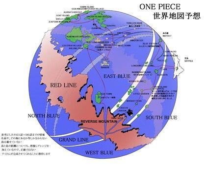 One Piece World Anime Desenhos Animados Mapa