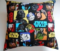 #Star #Wars #pillow, Approx. 16 inches square, $15.00 Polyester fiberfill . for details :  www.beckyspillowshop.com/apps/webstore/products/show/4977027