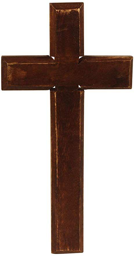 Crafkart Rustic Look Wood Wall Mounted Holy Jesus Cross