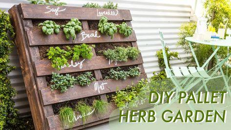 DIY Shipping Pallet Herb Garden