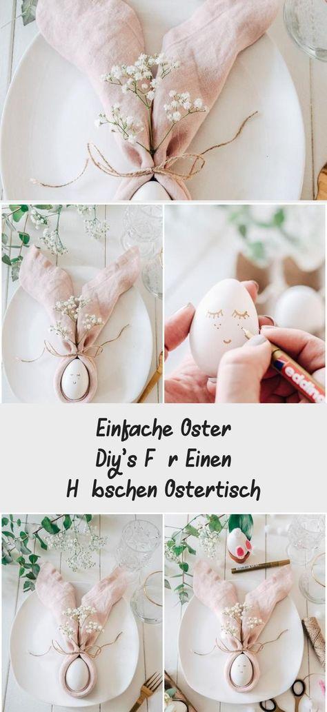 Photo of Einfache Oster Diy's Für Einen Hübschen Ostertisch – DE