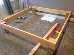 King Sized Deck Diy Bed Frame With Foundation For 100 With