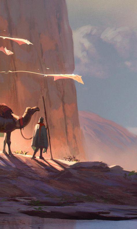 Digital Art Camel Desert 4K 4k Ultra HD Desktop Background Wallpaper for 4K UHD TV : Tablet : Smartphone