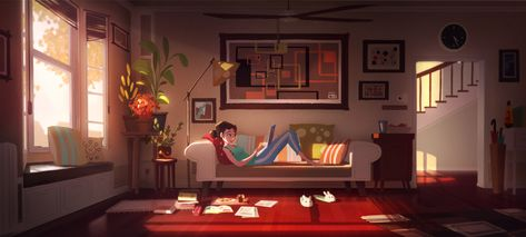 ArtStation - Living Room Mood Lighting , Aeron Ng
