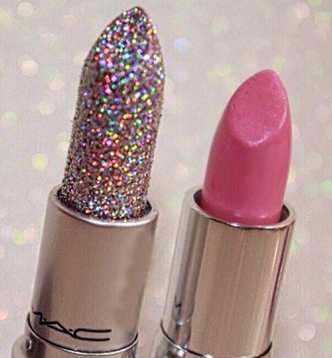 Glitter dipped lipstick