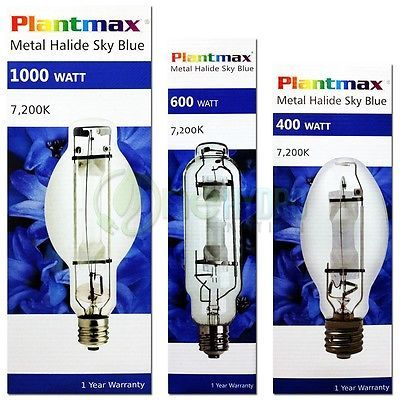 Grow Light Bulbs 178988 Plantmax Mh 7200k Lamps 1000w 600w 400w Grow Light Metal Halide Bulbs Watts Buy It Now Only 36 Grow Light Bulbs Grow Lights Bulb