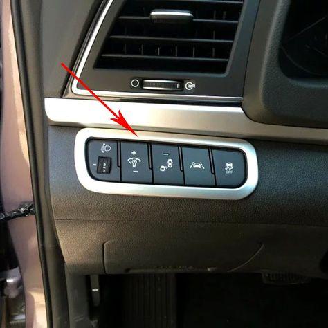 For Hyundai Elantra Avante 2016 2017 6th Car Interior Front Head Light Lamp Control Button Switch Cover Trim Car Styling Hyundai Elantra Car Interior Elantra