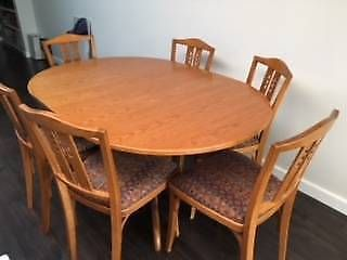 Dining Room Table With Drop Down Sides Interesting Dropside Table And Six Chairs  Dining Tables  Gumtree Australia Review
