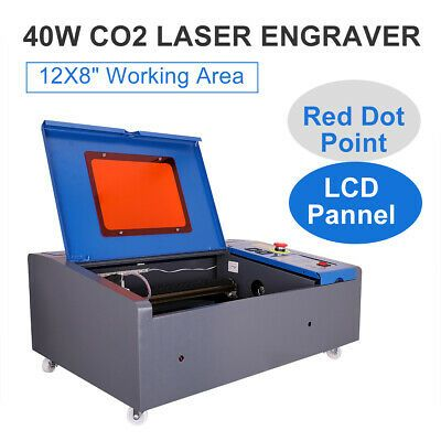CO2 Laser Engraving Machine Cutting Commercial Engraver 40W 300*500mm  Blue FDA