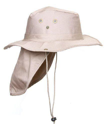 TOP HEADWEAR Safari Explorer Bucket Hat with Flap Neck Cover Camoflauge