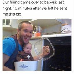 30 Seriously Funny Babysitter Memes - The Effective Pictures We Offer You About new Dad Humor A quality picture can tell you many things. You can find the most beautif Funny Shit, Stupid Funny Memes, Funny Relatable Memes, Haha Funny, Funny Posts, Funny Quotes, Funny Stuff, Funny Things, Funny Life Memes