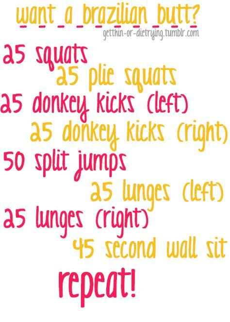 Brazilian Butt Workout - we'll see!!