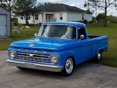 1966 Ford F 100 Pro Street Blue Pickup Truck Old 1960 S Trucks