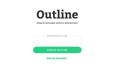 Outline. Lire et annoter des articles sur le web - Les Outils Tice