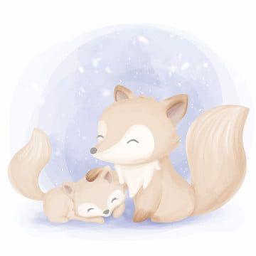 Cute Animal Fox Illustration Cute Clipart Cute Animals