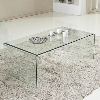 Noble House Roman Tempered Glass Coffee Table Clear In 2019