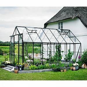Serre De Jardin 11 5m Verte En Verre Horticole Magnum Halls Halls Marque Hallsgamme Magnummateriau Aluminium Et Verr En 2020 Serre Jardin Maison Verte Jardins