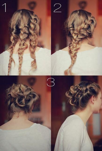 Cute 3 braid bun