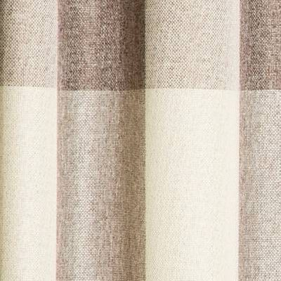 63 X52 Larkhall Plaid Blackout Window Curtain Panel Brown Cream