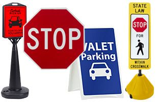 Parking Lot Signs Maintain A Safe Environment For Pedestrians