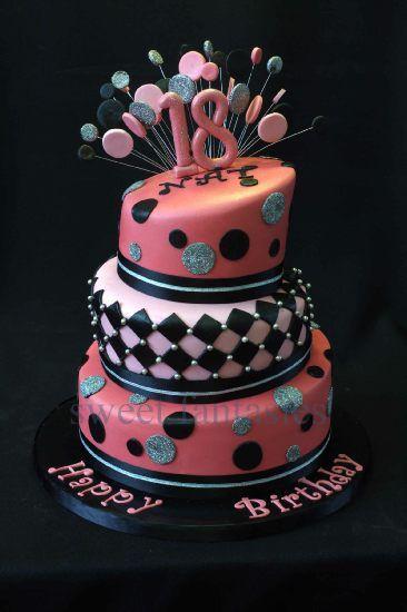Tier Th Birthday Cake  By Sweet Fantasies Graduation - Happy birthday 18 cake