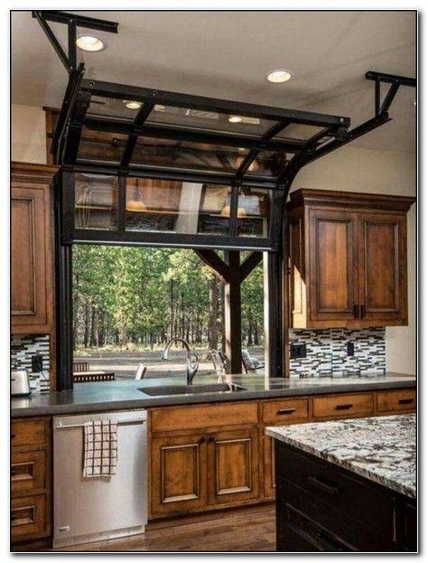 Garage Door Window Kitchen Country Kitchen Designs Country Kitchen Farmhouse Modern Farmhouse Kitchens