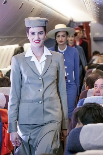 Fashion show on board a flight to Lima