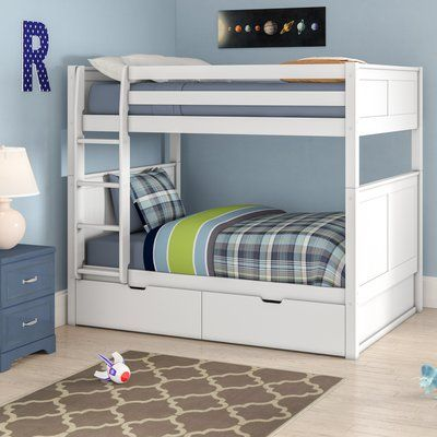 Viv Rae Isabelle Full Over Full Bunk Bed With Storage Color White Bunk Beds With Storage Cool Bunk Beds Bunk Beds