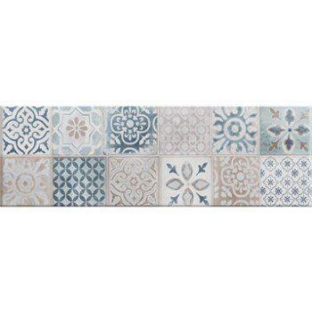 Faience Mur Blanc Et Bleu Decor Haussmann Carreau Ciment L 25 X L