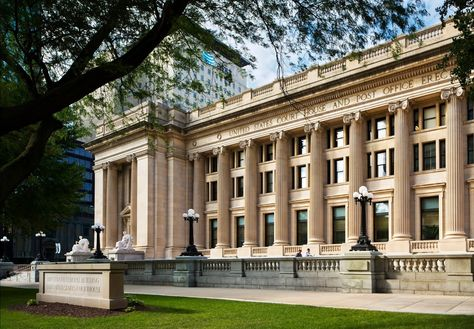 The Birch Bayh Federal Building and U.S. Courthouse was built in the Beaux Arts style in 1905. Listed on the National Register of Historic Places in 1974, it is an excellent example of the Classical Revival style of architecture popular for public buildings at the turn of the century. The building was named for former Indiana State Legislator and U.S. Senator Birch Bayh.