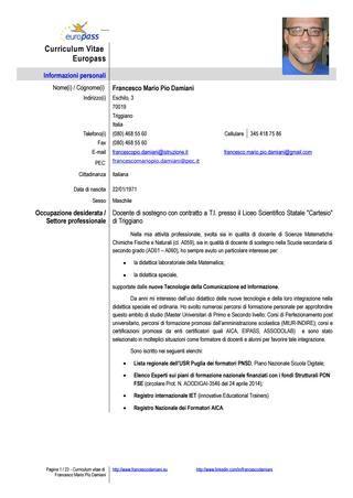 Curriculum Vitae Con Legge 68 99 Modelos De Curriculum Vitae Y