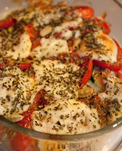 Poulet léger aux tomates, courgette et Mozzarella | Cahier de gourmandises