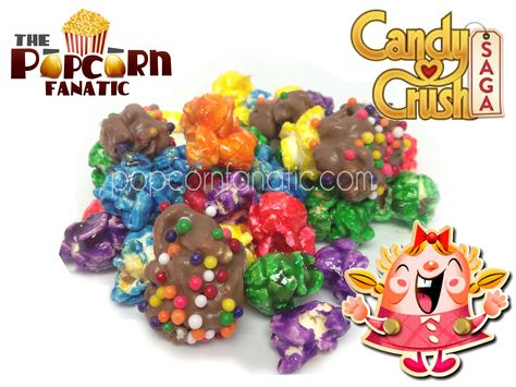 "#candycrush #popcorn from ""The Popcorn Fanatic""  Put down your phone and get your fix on.  facebook.com/popcornfanatic"