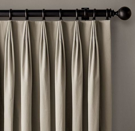 Premier Prints Monroe French Pleat Modern Medallions; White Pinch Custom Euro Pleat Curtain Drapery Panels Priced Per Pair Natural