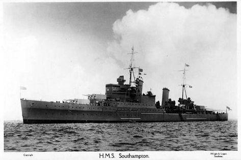 HMS Southampton Town class light cruisers of the British Royal Navy.