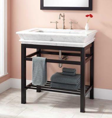 Bathroom Vanity With Metal Legs Home Ideas Console Sink Bathroom Vanity Sink