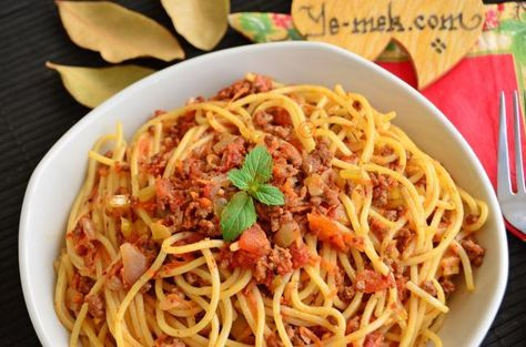 Bolonez Soslu Spagetti Yemek Tarifleri Gida Yemek